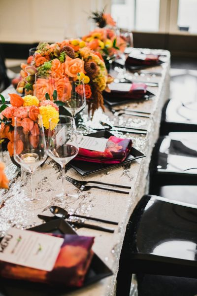 Colorful Modern Wedding Table